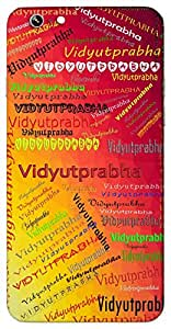 Vidyutprabha (Popular Girl Name) Name & Sign Printed All over customize & Personalized!! Protective back cover for your Smart Phone : Samsung Galaxy A-3