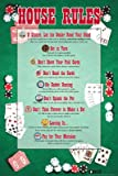 House Rules (Poker) Sports Poster Print, 24x36