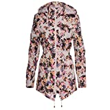Women's Designer Brave Soul Festival Rain Mac Trench Waterproof Lightweight Coat UK 12/ US 10/ AUS 14/ EU 40/ Medium Floral