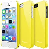 RINGKE SLIM for Apple iPhone 5 / 5S Case [LF Yellow] SUPER SLIM + LF COATED + PERFECT FIT Premium Hard Case Cover [ECO Package]