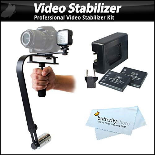 Professional Video Stabilizer With Led Light Set Includes Action Stabilizing Handle + Deluxe Led Light Kit For Sony Hdr-Cx330, Hdr-Cx240, Hdr-Cx900, Hdr-Pj540, Hdr-Pj790, Hdr-Pj650, Hdr-Td30V, Hdr-Pj810, Hdr-Pj340, Hdr-Pj275, Hdr-Mv1, Hdr-Pj430V