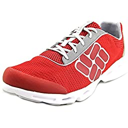 Columbia Men\'s Drainmaker Watershoe,Intense Red/Cool Grey,13 M US