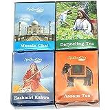 Combo Pack Of Masala Chai/Darjeeling Tea/Kashmiri Kahwa Tea/Assam Tea (10 Tea Bags Each)