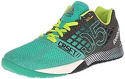 Reebok Women\'s R Crossfit Nano 5.0 Training Shoe, Glass Green/Black/Semi Solar Yellow/Chalk, 6.5 M US