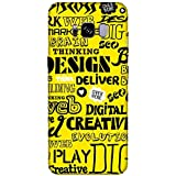 For Samsung Galaxy S8 Edge Word Pattern ( Word Pattern, Design, Thinking, Good Quotes, Yellow Background ) Printed Designer Back Case Cover By FashionCops