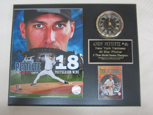Andy Pettitte New York Yankees Collectors Clock Plaque w/8x10 Photo and Card at Amazon.com