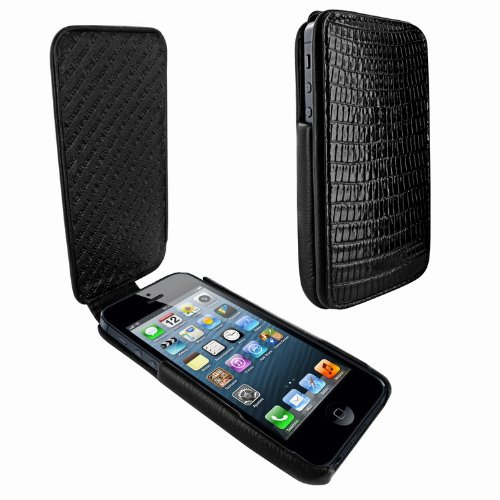 Best Price Apple iPhone 5 / 5S Piel Frama iMagnum Black Lizard Leather Cover