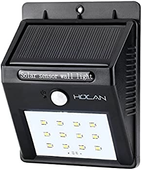 Holan 12-LED Solar Motion Outdoor Rainproof Wall Light