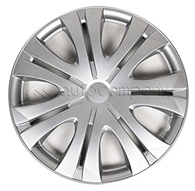 "Silver 16"" Hub Caps Full Wheel Rim Covers w/Steel Clips (Set of 4) - KT-1012S-16"