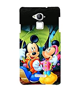 printtech Disney Mickey Minnie Mouse Back Case Cover for Coolpad Note 3 Lite Dual SIM with dual-SIM card slots