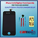 Zeetron IPhone 4 GSM Replacement Digitizer Glass Screen Assembly Kit (With Zeetron Microfiber Cloth, And 6P Tool...