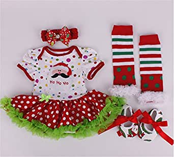 Newborn Baby Girls Christmass Dress Outfit Tutu Skirt Romper