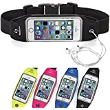 Running Belt Waist Pack for iPhone 6S/6 or 6 Plus with Transparent Touchscreen Window - Runners Belt / Fitness Belt For Women and Men - Lifetime Guarantee