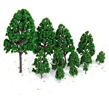 20pcs 3 inch Green Train Model Scenery Landscape Trees Scale 1/100(Plastic Tree)