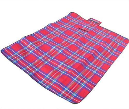 Portable Adult Child Baby Kid Infant Toddler Children Waterproof Backing Camping Picnic Beach Outdoor Auto Travel Yard Play Mat Floor Blanket Pad (Red) front-260003