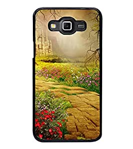 Fuson Premium 2D Back Case Cover Scenery With yellow Background Degined For Samsung Galaxy Grand 3 G720::Samsung Galaxy Grand Max G720
