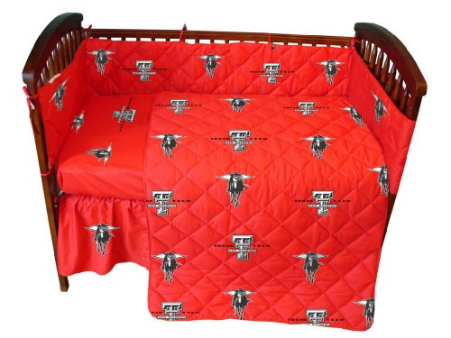 Texas Tech Baby Crib Fitted Sheet - White - Texas Tech Red Raiders front-1006122