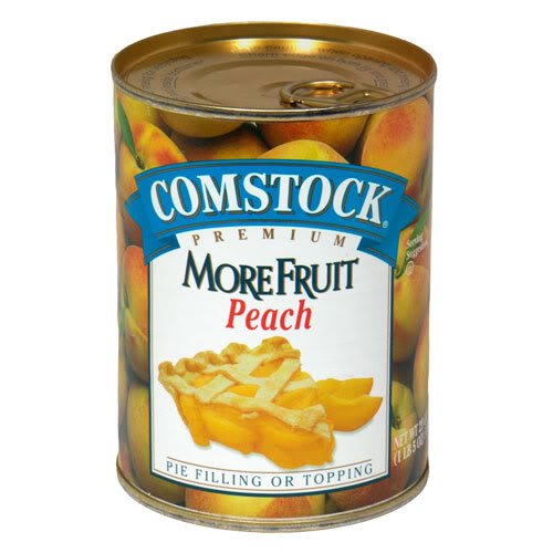 Comstock Pie Filling, More Fruit, Peach, 21 oz (Pack of 9)