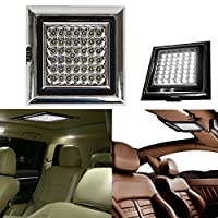 Discoball® 12V 42 LED White Light Shed Lamp for Caravan Awning Tent Trailer Car Vehicle Roof Ceiling Dome Interior Light with Screws from Discoball