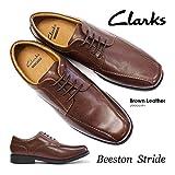 【アウトレット品】クラークスビジネスシューズビーストンストライドメンズ本革紳士靴ClarksBeestonStrideブラウンレザー28.0cm(UK10)