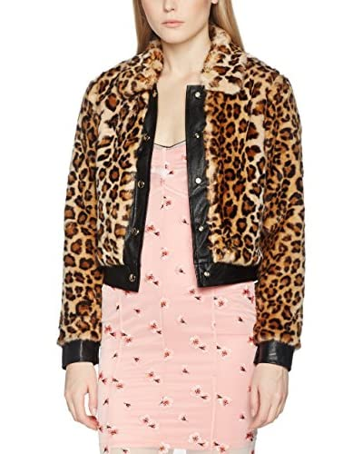 Guess Giacca Leopard Fake Fur Bomber [Leopardo]