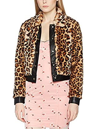 Guess Chaqueta Leopard Fake Fur Bomber (Leopardo)
