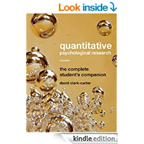 Quantitative Psychological Research: The Complete Student's Companion,, 3rd Edition