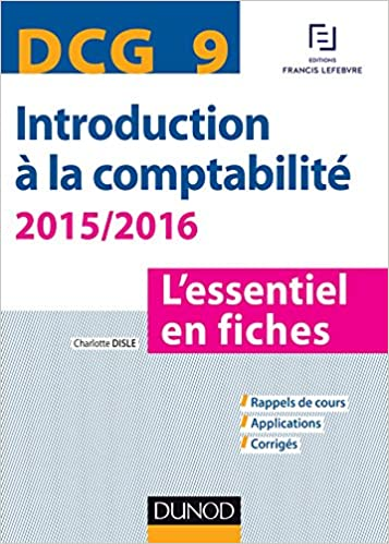 DCG 9 : Introduction à la comptabilité 2015/2016