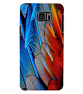 ColourCraft Feathers Design Back Case Cover for SAMSUNG GALAXY NOTE 5