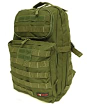 Monstrum Tactical BP01 MOLLE Backpack (Military Green)