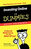 Investing Online For Dummies Quick Reference (For Dummies (Lifestyles Paperback))