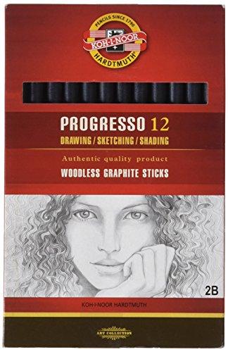 koh-i-noor-progresso-2b-jumbo-crayon-sans-bois-graphite-boite-de-12