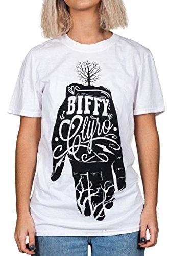 T Shirt Biffy Clyro Hand (Bianco) - Medium