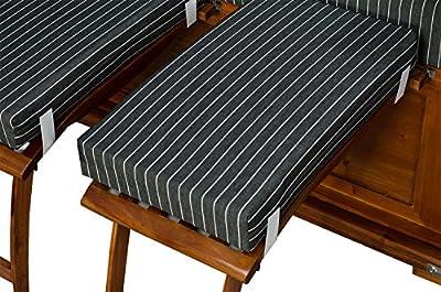 Strandkorb Keitum Mahagoni PE Schwarz Dessin Royal Anthrazit von Möbelpromenade - Gartenmöbel von Du und Dein Garten