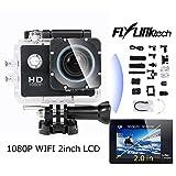 Flylinktech 1080PフルHD WIFI 2.0インチ液晶 防水 スポーツ アクションカメラ 車載カメラ[並行輸入品]