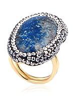 Handmade_Art Anillo (Azul / Dorado)