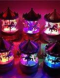 ZQ caja de música caballo merry-go-round caja de música del carrusel de navidad regalo de cumpleaños , 3#