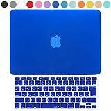 MS factory MacBook Pro 13 ケース + 日本語 キーボード カバー ハードケース 全13色カバー RMC series マックブック プロ 13.3 インチ Late 2015 対応 マット加工 ブルー 青 RMC-SETP13MBL