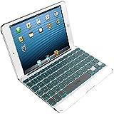 ZAGG Folio Case with Backlit Bluetooth Keyboard for Apple iPad Mini-White/Grey