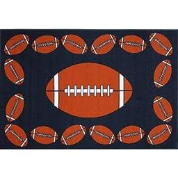Decorative Fun Rugs FOOTBALL TIME Kids Rugs (39 x 58)