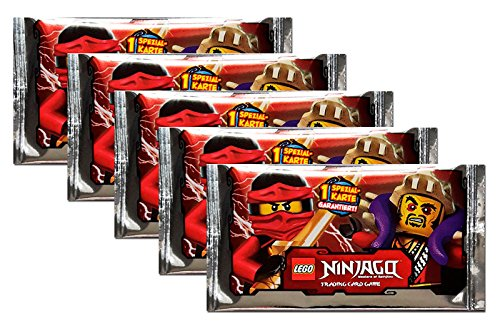 Blue Ocean - LEGO Ninjago Sammelkarten - 5 Booster Packungen 25 Karten - Deutsche Ausgabe