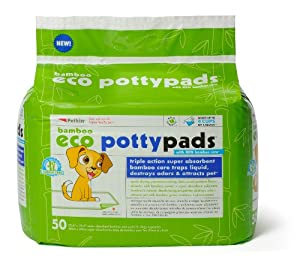 Petkin Bamboo Eco Potty Pads, 50 Count