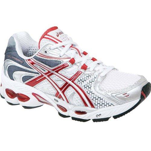 Asics Schuh Frauen Nimbus , weiß/silber/rot, 7