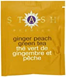 Stash Tea Company Ginger Peach Green Tea, 100 Count Box of Tea Bags in Foil
