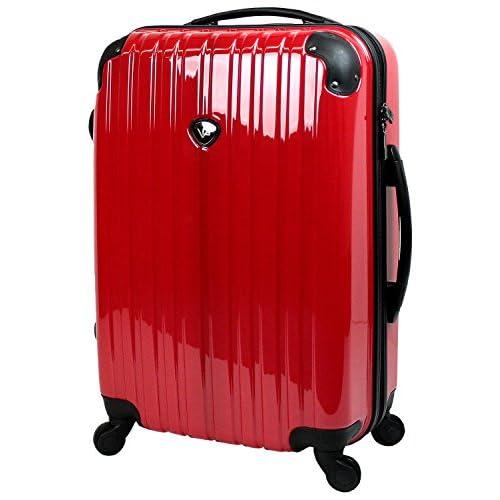 【SUCCESS サクセス】 【 アウトレット スーツケース セミ中型 超軽量 キャリーバッグ 4輪 【AT-3783 シングルファスナーモデル】 (セミ中型 62cm, ピュアレッド)