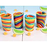 (Set/4) Edible Candy Lemon And Lime Flavor Shot Glass - Snack Drinkware Set