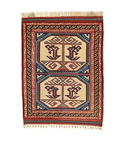 L'EDEN DEL TAPPETO Teppich Konya Antik rot/mehrfarbig 116 x 140 cm