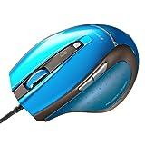 SANWA SUPPLY ブルーテック有線マウス ブルー MA-118HBL