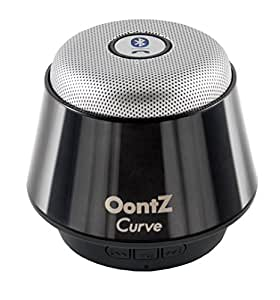 OontZ Curve Bluetooth Speaker Ultra Portable Wireless Full 360 Degree Sound with Built in Speakerphone works with iPhone iPad tablet Samsung and smart phones - Titanium Black