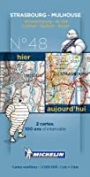 Pack 2 cartes hier/aujourd'hui Strasbourg - Mulhouse Michelin